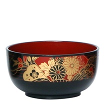 "BOWL 5.5"" DONBURI BLACK PLUM"