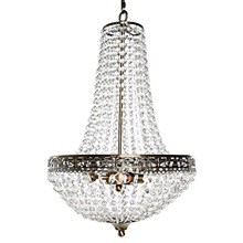 "24""H Poetic Wanderlust by Tracy Porter Cheyenne Crystal and Metal Chandelier"