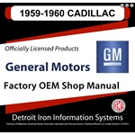 1959-1960 Cadillac Factory Shop Manual, CD
