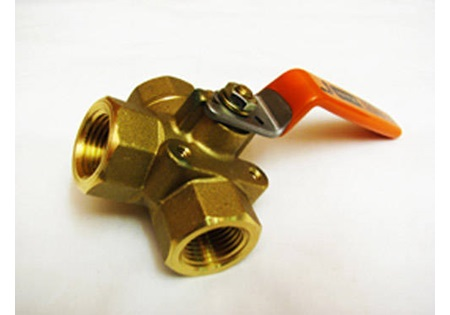 "1/2"" 3-Way Brass Ball Valve"