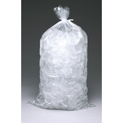 "9 X 18"" 1.2 MIL 5# CLEAR POLY ICE BAG WITH 4"" TIES, 1000/CA  H18MET"
