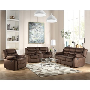 55046 Angelina Motion Loveseat with Console