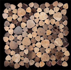 Tierra Sol Ceramic Tile - Stone Mosaic: Oval Pebbles
