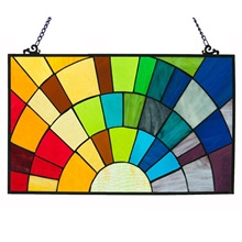 "12""H Tiffany Style Rays of Sunshine Panel"