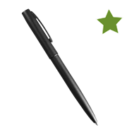 BLACK METAL CLICKER PEN  – Black Ink