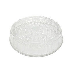 "18"" CLEAR PLASTIC DOME LID, FITS 18"" TRAY - 50/CS  P4418"