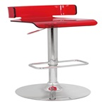 96262 SWIVEL ADJ. STOOL W/RED SEAT