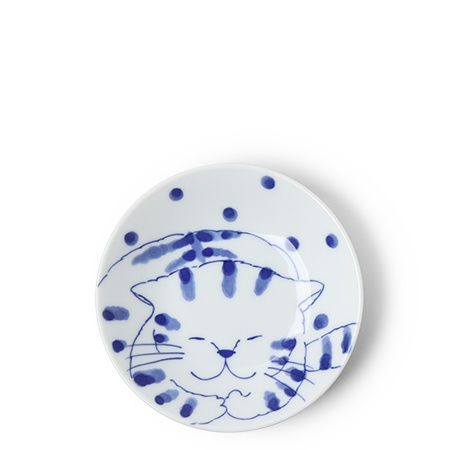 "Blue Cats 5.25"" Plate"