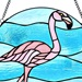 "16""H Tiffany Style Fabulous Flamingo Panel"