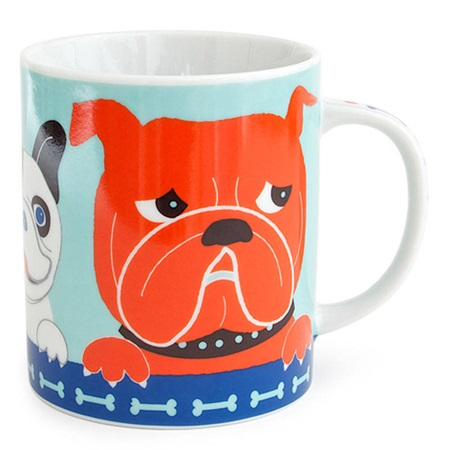 Pop Art Dogs 8 Oz. Mug - Blue