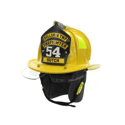 Cairns® N5A New Yorker™ Leather Fire Helmet - Yellow Large