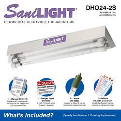 SaniLIGHT DHO24-2S Included Accessories