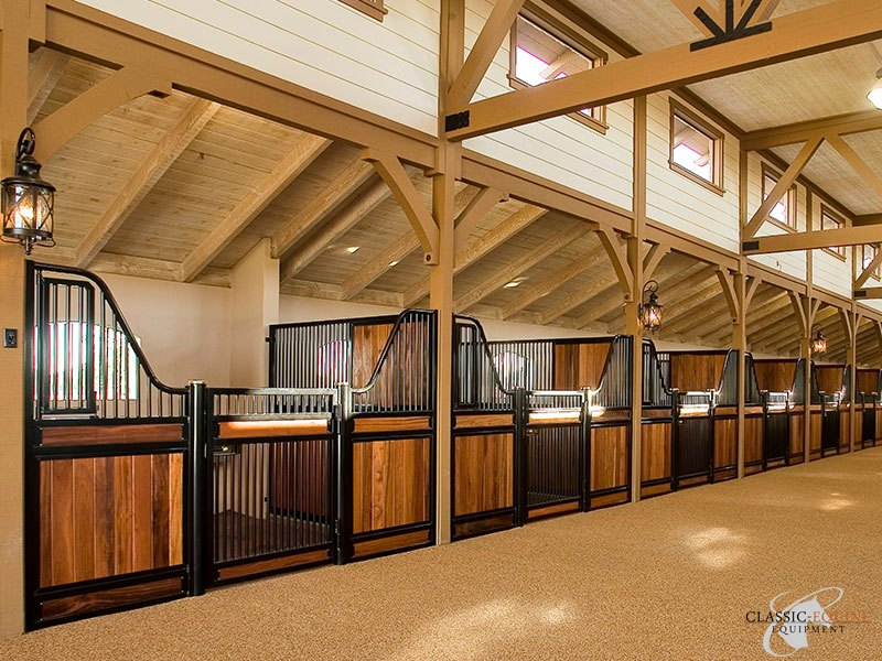 Hinged horse stall doors best quality horse stalls made for 2 stall horse barn