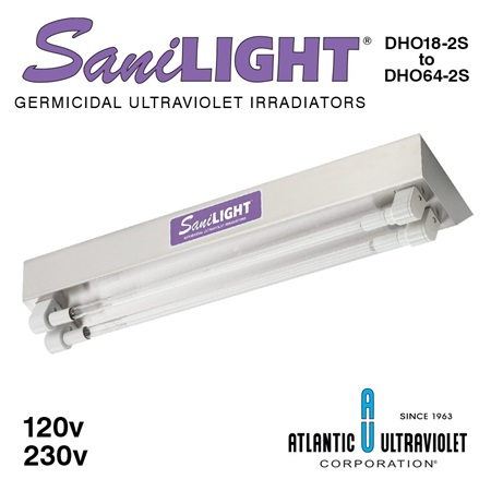 SaniLIGHT 2-Lamp HO UV Air and Surface Fixtures