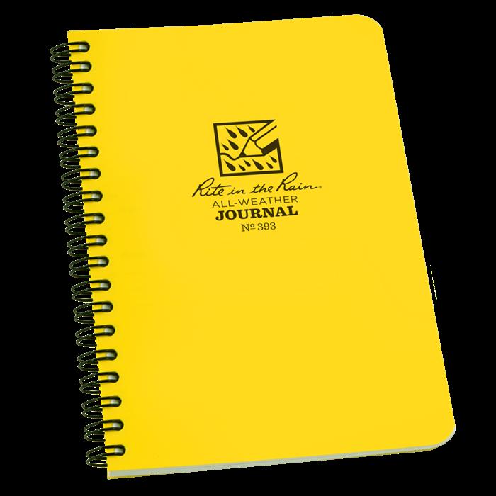rite in the rain no 393 side spiral notebook journal polydura 4 5