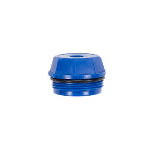 CAP, FILTER PLASTIC BLUE