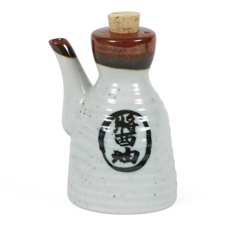 Shoyu 6 Oz. Sauce Pot With Cork - White
