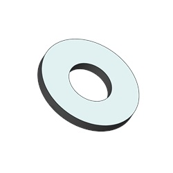 "#10 Flat Washer, .202"" ID X .625"" OD X .060"" Thick, 316 Stainless Steel"