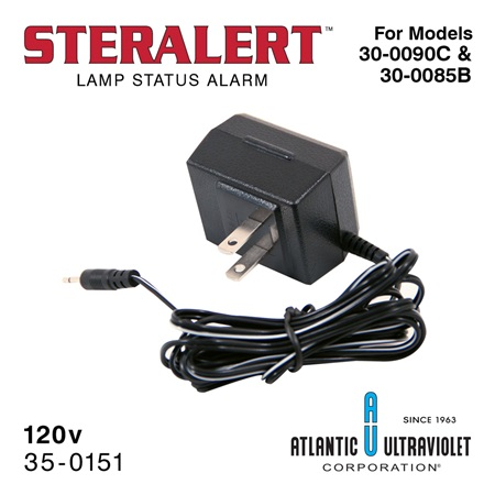 Adapter: STERALERT™ 120v AC/DC Plug-in Power Supply