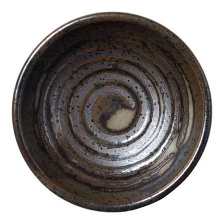 "Dark Brown Swirl 3.25"" Sauce Dish"