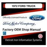 1972 Ford Truck & Van Factory Shop Manual, CD