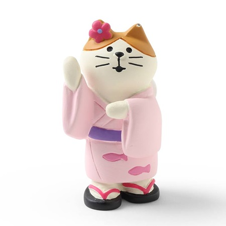 Figurine Pink Cat Dancing