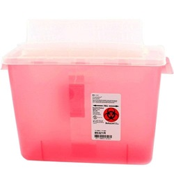 8 Quart Translucent Red Container - Locking Horizontal Lid