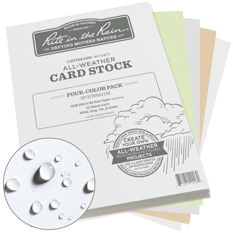 All-Weather Card Stock Paper