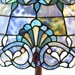 "64""H Stained Glass Blue Allistar Floor Lamp"