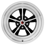 17 x 7 Legendary GT9 Alloy Wheel, 5 on 4.5 BP, 4.25 BS, Gloss Black / Machined
