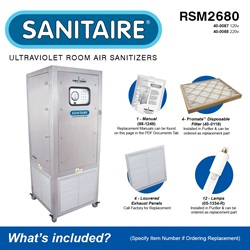 Sanitaire Model RSM2680 Included Accessories