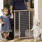 "GuardMaster® II Tall Wire Mesh Swing Gate, Hrdw. Mounted ""TOS"""