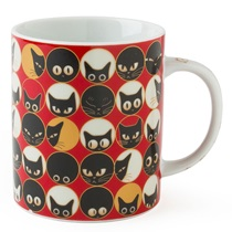 Cat Eyes 8 Oz. Mug - Red