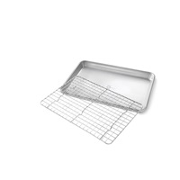 Quarter Sheet Nonstick Cooling Rack and Pan Set