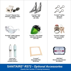 Sanitaire Model RS72 Optional Accessories