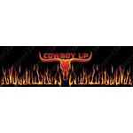 Cowboy Up Longhorn Flame