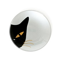 "Cat Eyes 4.5"" Glass Dish - White"