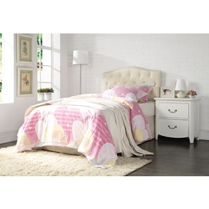 39133Q CREAM QUEEN HEADBOARD