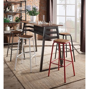 72388 RED BAR STOOL