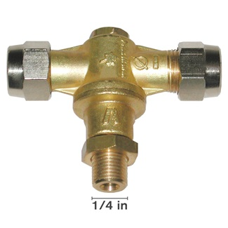 "1/4"" Male Italian Made Brass Rollover Nozzle"