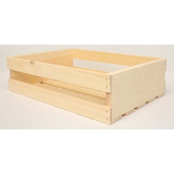 Large Wood Half Crates