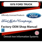 1978 Ford Truck & Van Factory Shop Manual, CD