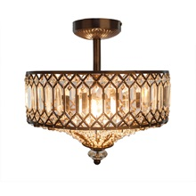 "15.25""H Jewel Tiered Semi-Flush Mount"