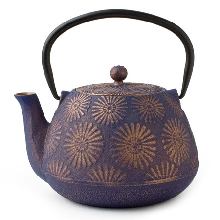 Purple Hanabi Cast Iron Teapot - 40 Oz.