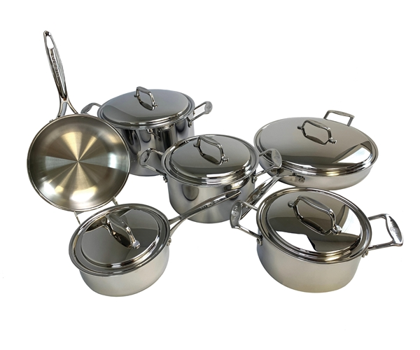 11 Piece 5-ply Stainless Steel Cookware Set