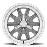 17 x 8 Legendary HB45 Alloy Wheel, 5 on 4.5 BP, 4.75 BS, 5 Lug, Charcoal/ Machined