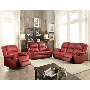 52151 RED MOTION LOVESEAT