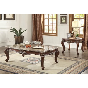 81050 COFFEE TABLE W/MARBLE TOP