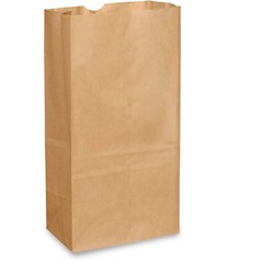 20# GROCERY BAG, 8-1/4 X 5-5/16 X 16-1/8, DURO