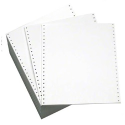 "9.5 X 11"" 20# MICRO PERFORATED WHITE COMPUTER PAPER, 2700/CS    951047"